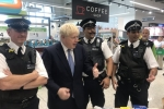 Boris with officers