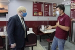 Boris visits businesses on Long Lane Uxbridge